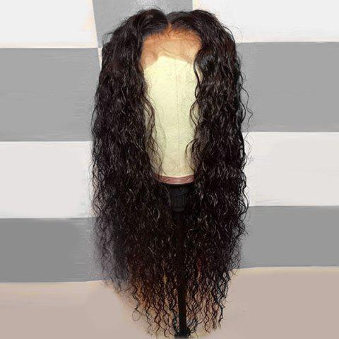 Cheap Long Middle Part Shaggy Curly Lace Front Synthetic Wig
