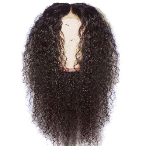 Affordable Long Center Parting Shaggy Curly Synthetic Lace Front Wig