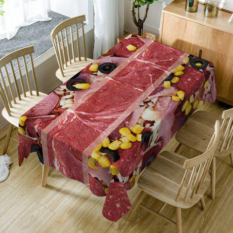 Corn Grain Streaky Meat Pattern Indoor Outdoor Table Cloth - RED - W54 INCH * L72 INCH