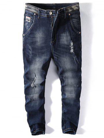 Buy Number Applique Ripped Jogger Jeans