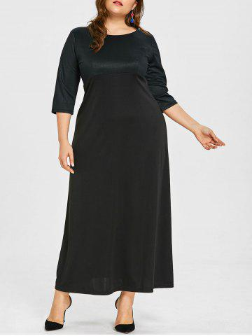 Chic Plus Size Empire Waist Floor Length Dress