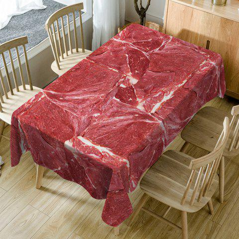 Shops Meat Print Fabric Waterproof Table Cloth