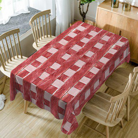 Meat Plaid Print Waterproof Dining Table Cloth - RED - W54 INCH * L72 INCH