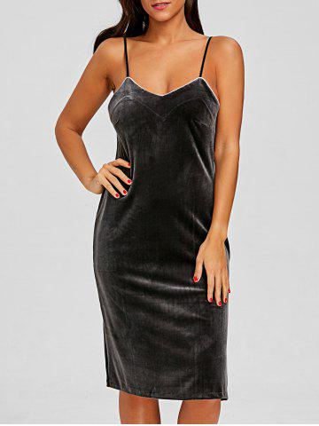 Hot Velvet Lingerie Slip Dress