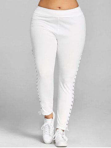 9a08e4a48b035 Plus Size Side Lace Up Leggings