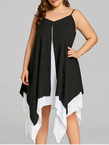 Shop Plus Size Cami Two Tone Handkerchief Dress