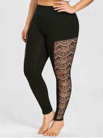 Leggings en dentelle transparente