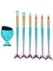 7Pcs High Quality Synthetic Fiber Hair Eye Makeup Brush Set -