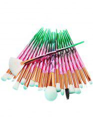20Pcs Zircon Pattern Ultra Soft Synthetic Fiber Hair Makeup Brush Set -