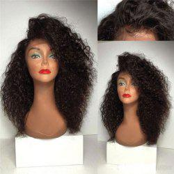 Long Deep Side Parting Fluffy Curly Synthetic Lace Front Wig -