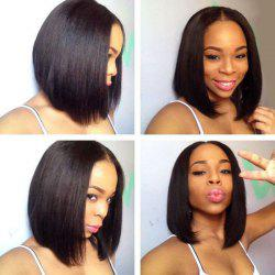 Short Middle Part Straight Bob Lace Front Synthetic Wig -
