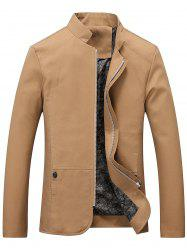 Pocket Stand Collar Zip Up Jacket -