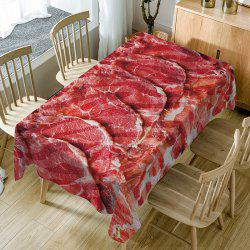 Food Meat Pattern Fabric Waterproof Table Cloth -