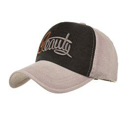 Simple BEAUTY Pattern Embroidery Adjustable Baseball Cap -