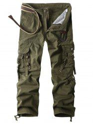 Zip Fly Multi Pockets Straight Cargo Pants -