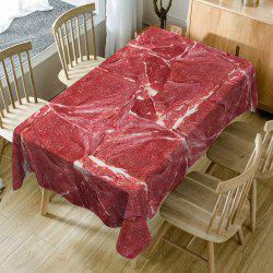 Meat Print Fabric Waterproof Table Cloth -