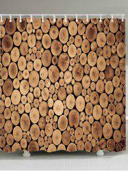 Tree Grain Print Fabric Waterproof Shower Curtain -