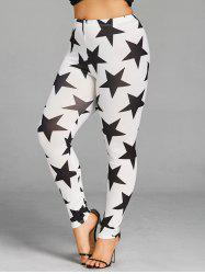 Plus Size Allover Star Leggings -