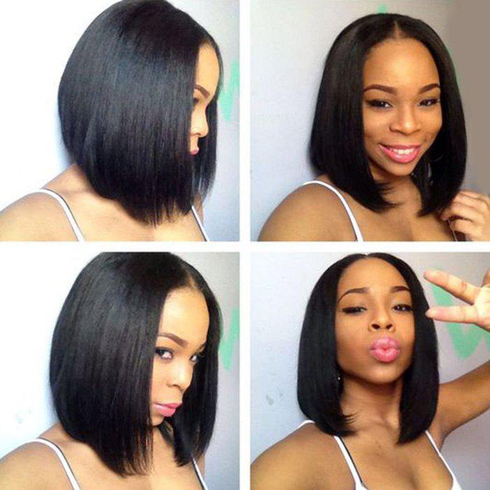 Hot Short Middle Part Straight Bob Lace Front Synthetic Wig