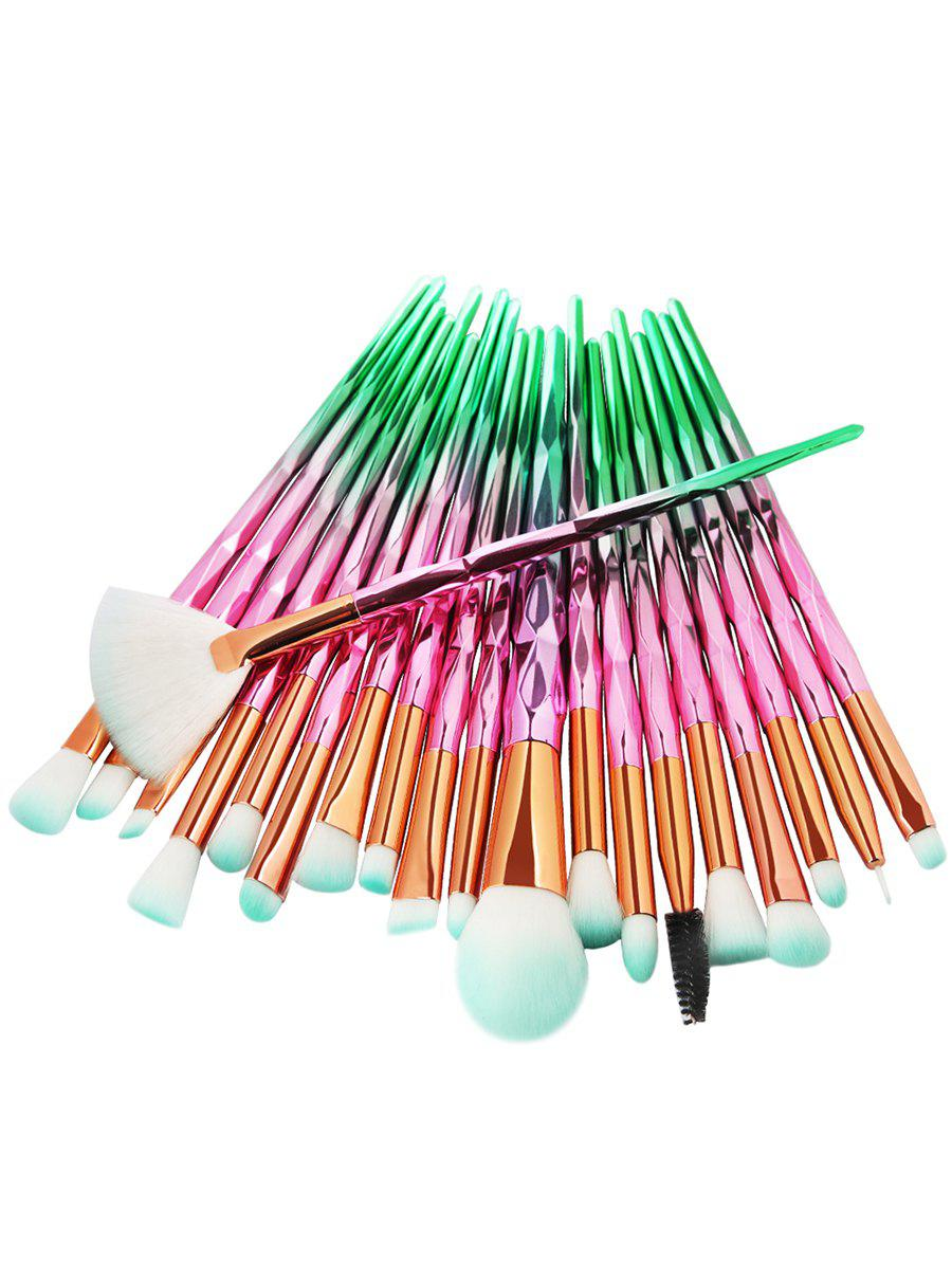 Store 20Pcs Zircon Pattern Ultra Soft Synthetic Fiber Hair Makeup Brush Set