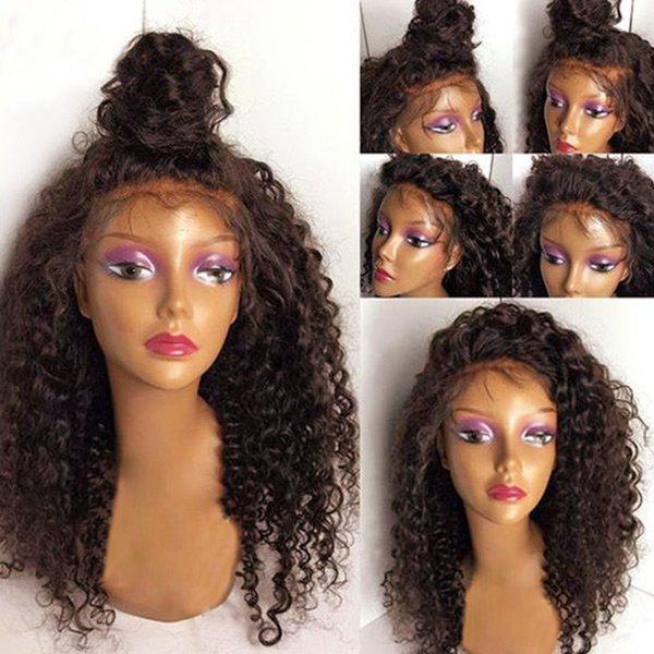 Shop Long Free Part Fluffy Deep Wave Lace Front Synthetic Wig