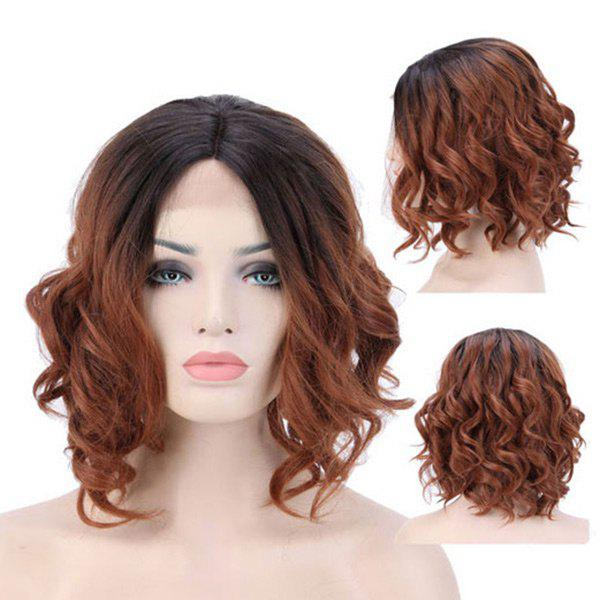 Discount Medium Center Parting Wavy Synthetic Lace Front Wig