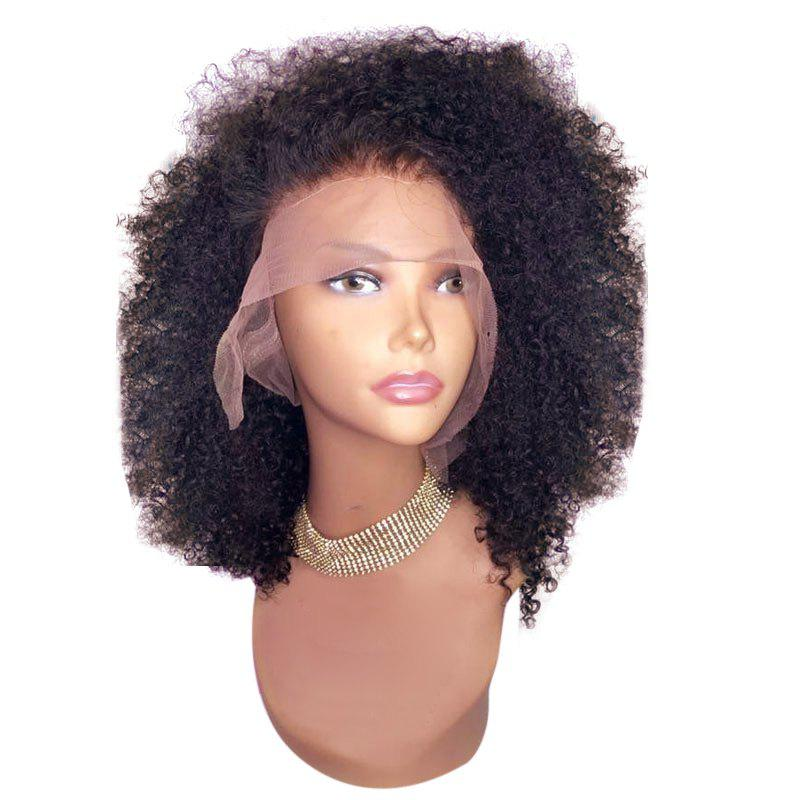 Unique Medium Free Part Shaggy Afro Curly Lace Front Synthetic Wig