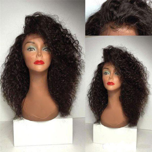 Shops Long Deep Side Parting Fluffy Curly Synthetic Lace Front Wig