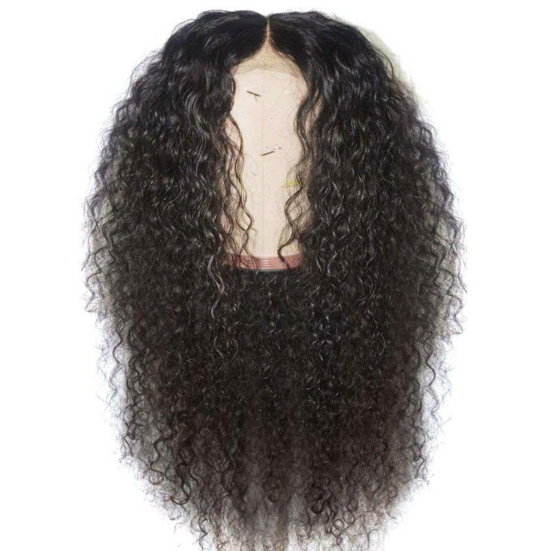 Shop Long Center Parting Shaggy Curly Synthetic Lace Front Wig