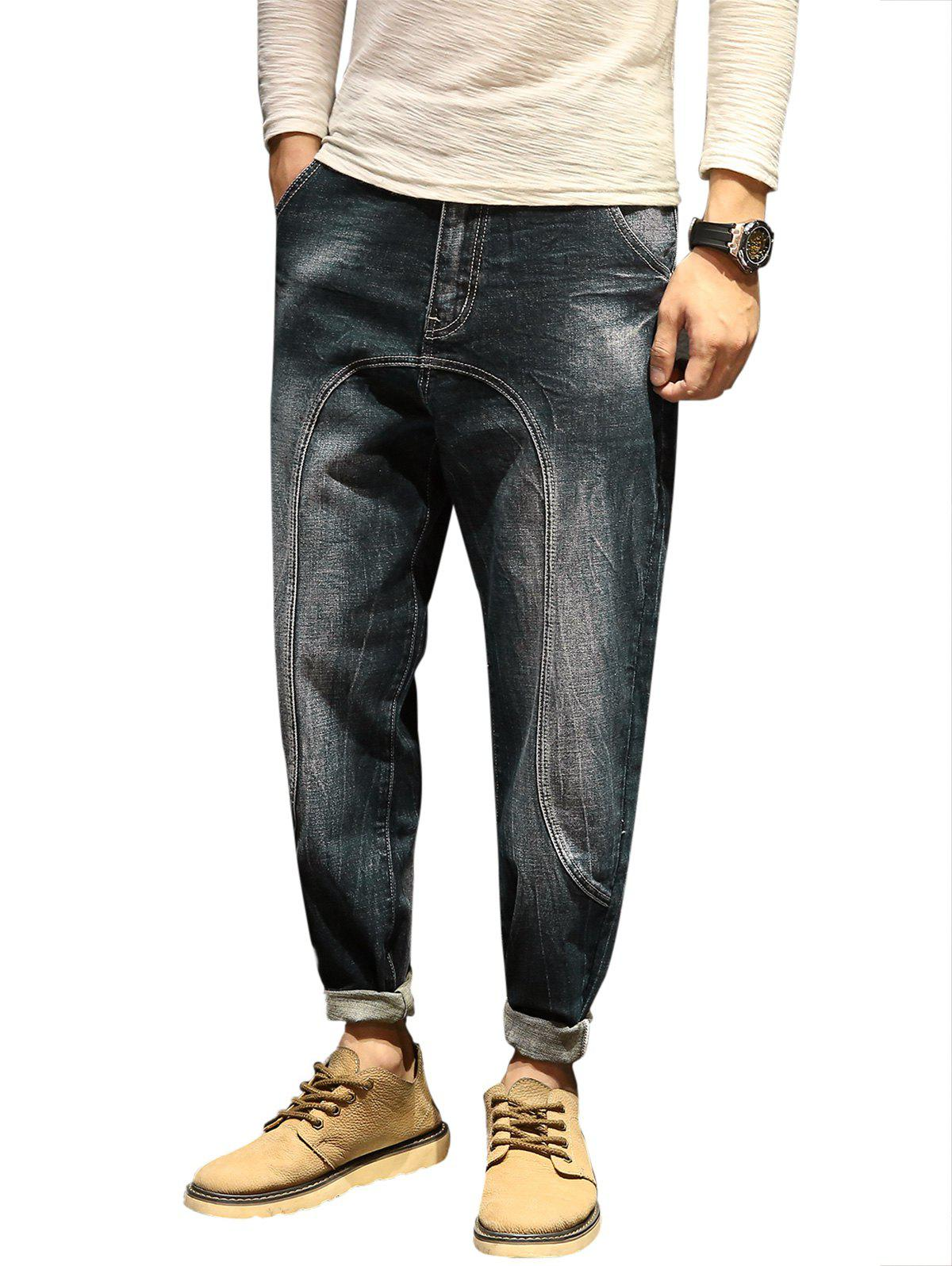 Cheap Casual Faded Slim Fit Jeans