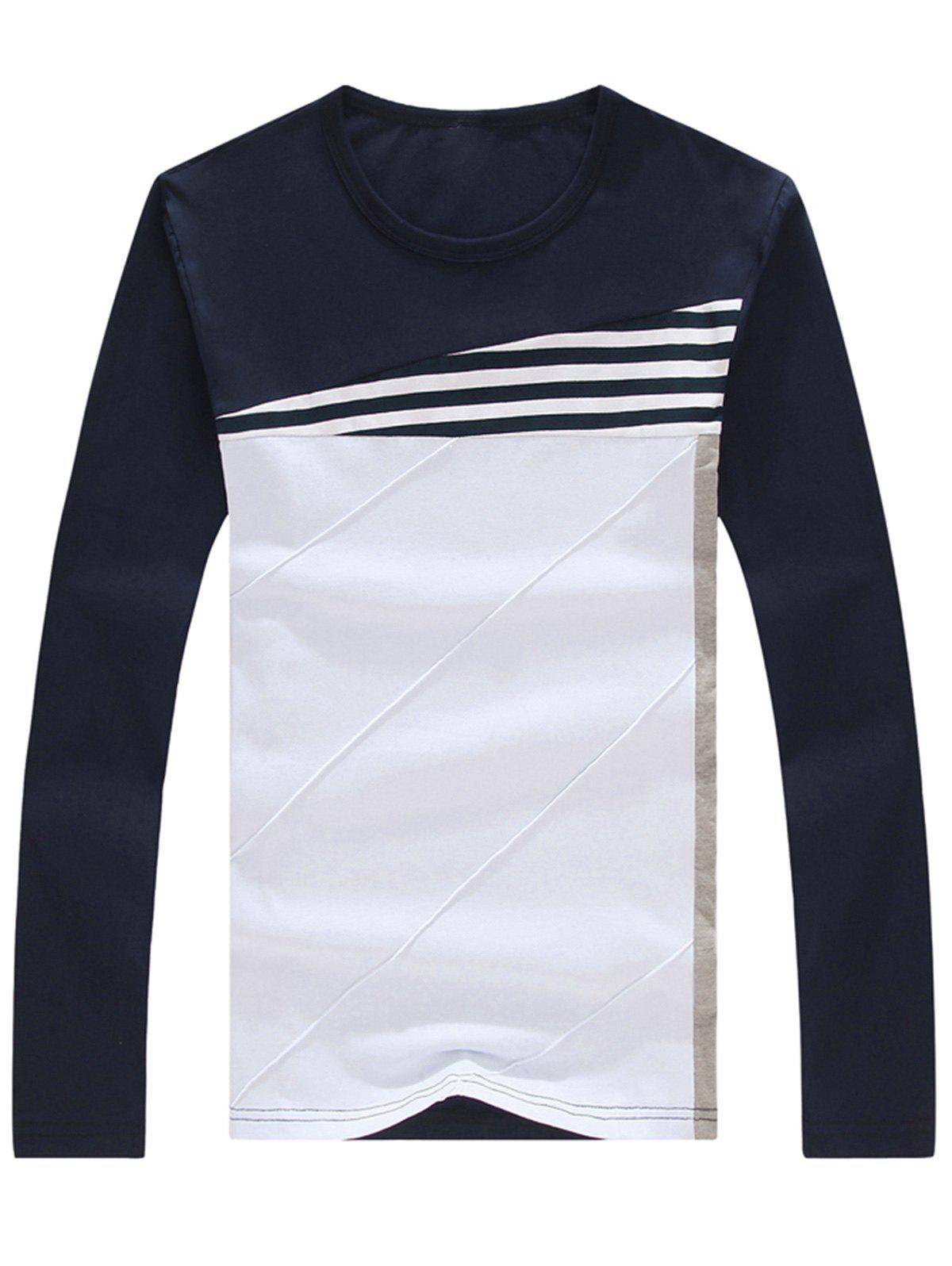 Shops Stripe Color Block Long Sleeve T-shirt