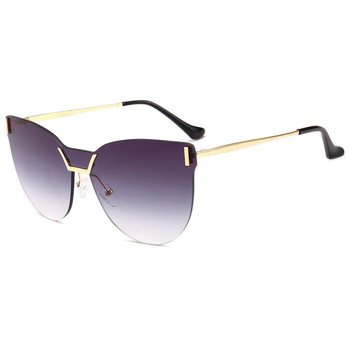 Fashion Anti-fatigue Frameless Color Gradient Lens Sunglasses