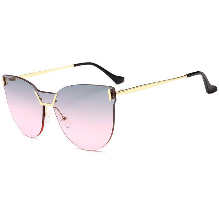 Buy Anti-fatigue Frameless Color Gradient Lens Sunglasses
