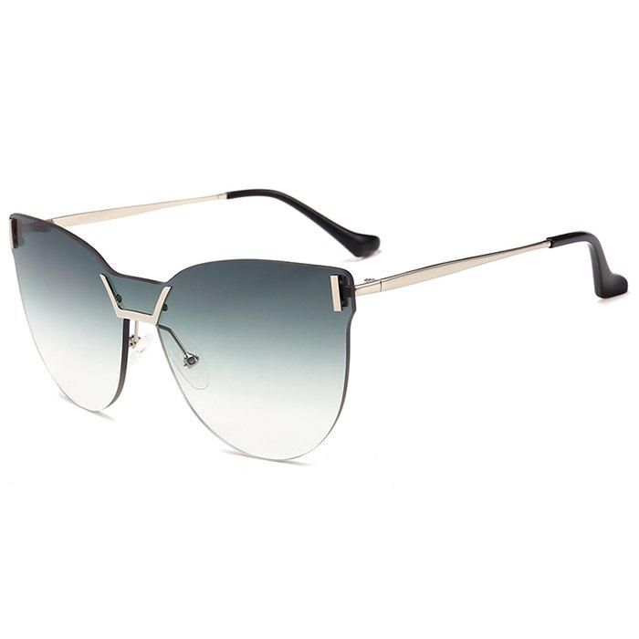 Outfits Anti-fatigue Frameless Color Gradient Lens Sunglasses