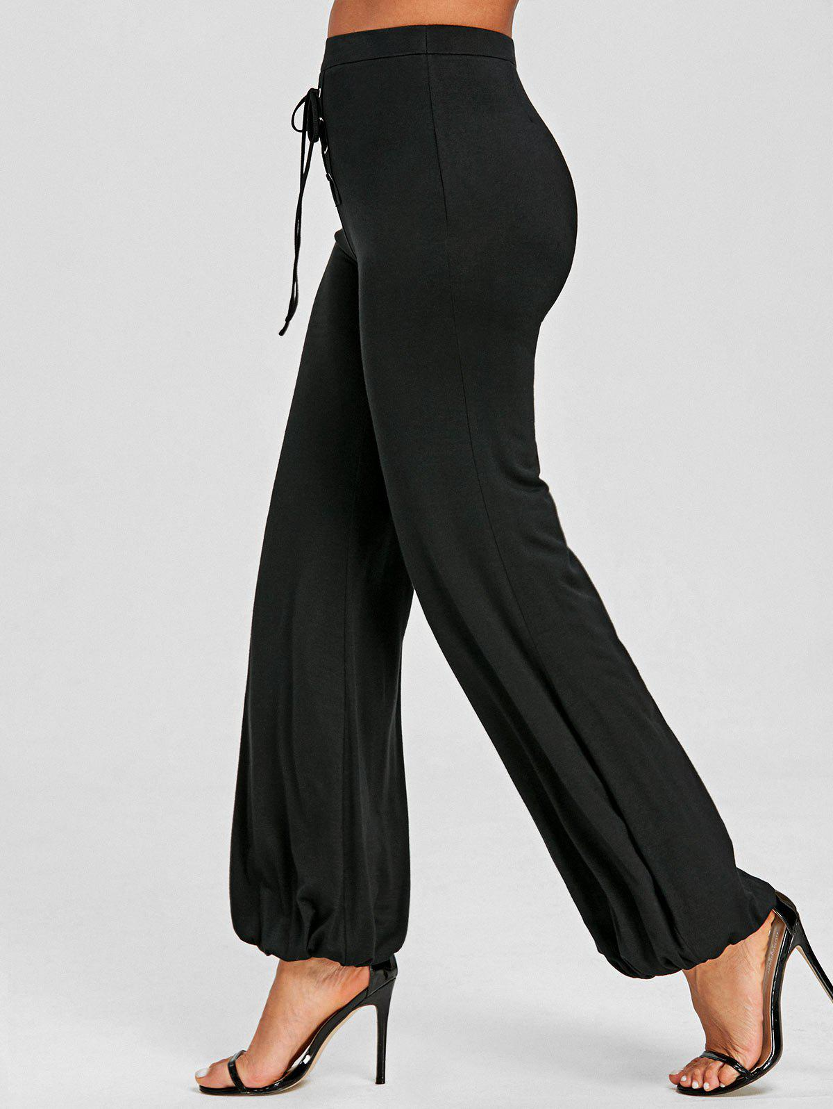 Fashion Lace Up High Rise Pants