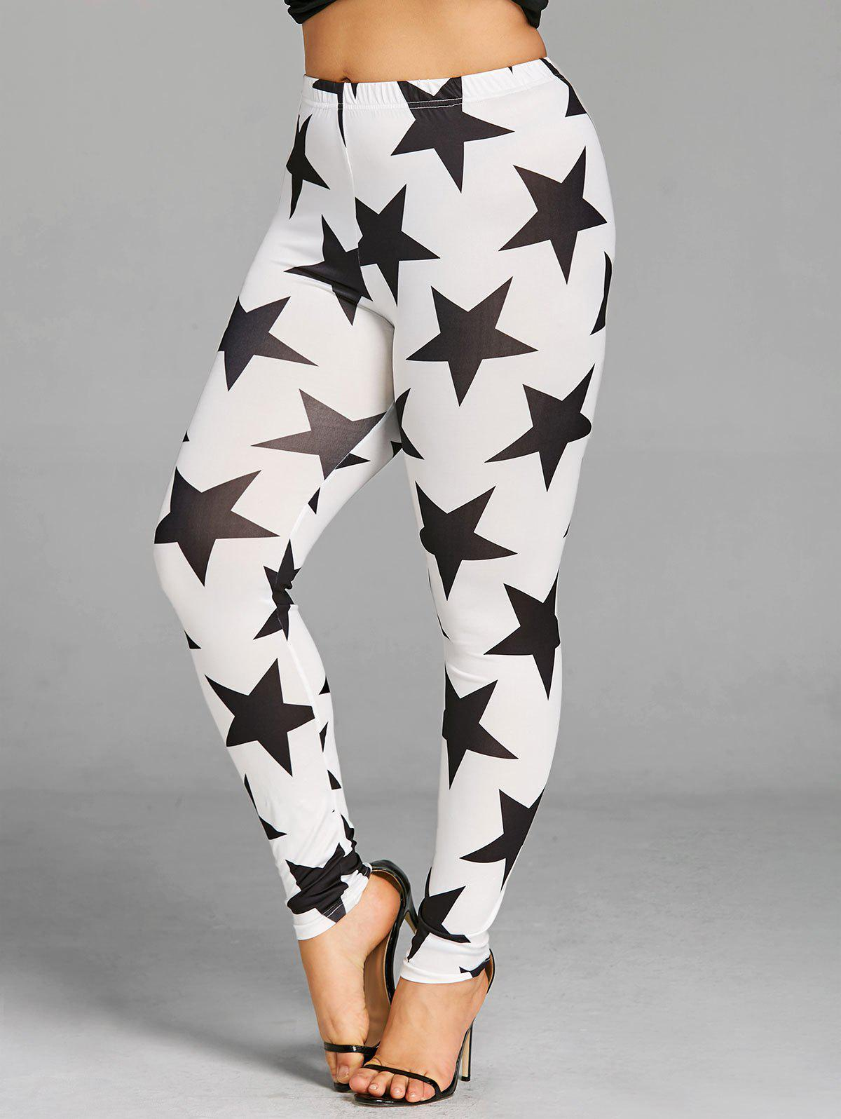 Online Plus Size Allover Star Leggings