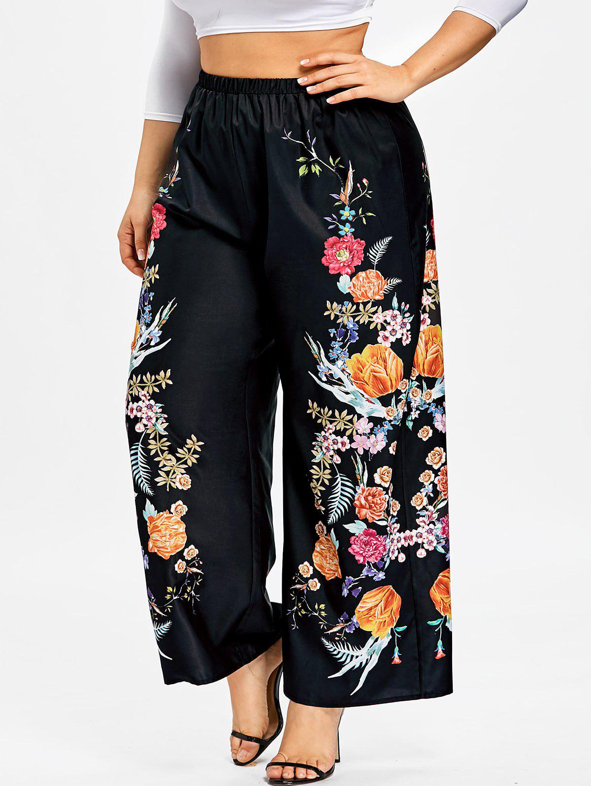 Outfit Plus Size Floral Palazzo Pants