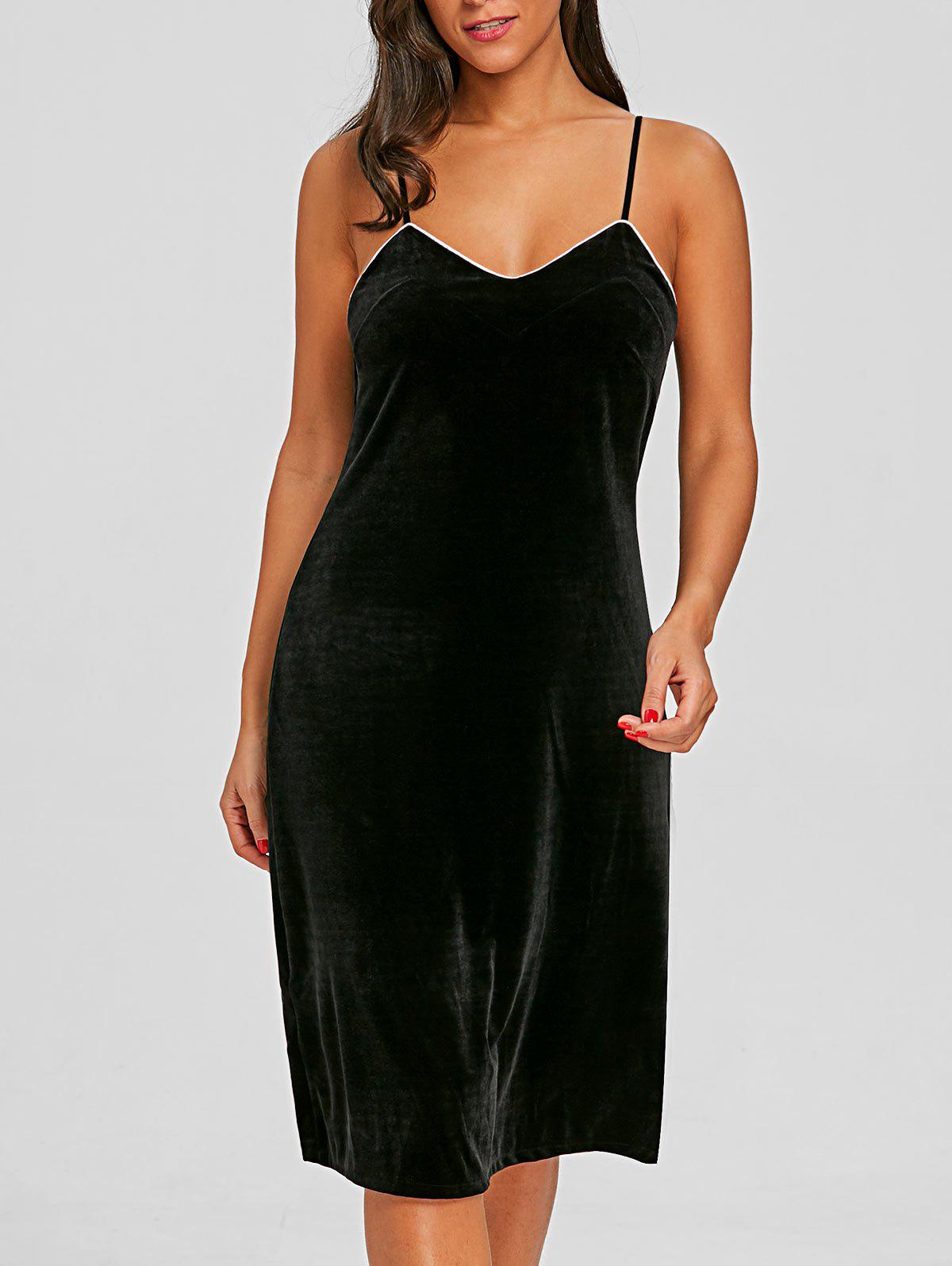 Store Velvet Lingerie Slip Dress