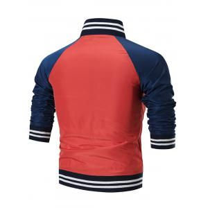 Raglan Sleeve Colo Block Windbreaker Jacket -