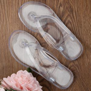 Casual Beach Flat Clear Flip Flops -