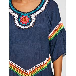 Tribal Crochet Detail Cover Up Top -