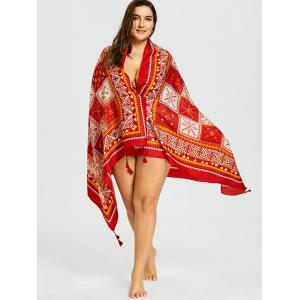 Geometric Tassel Ethnic Beach Throw -