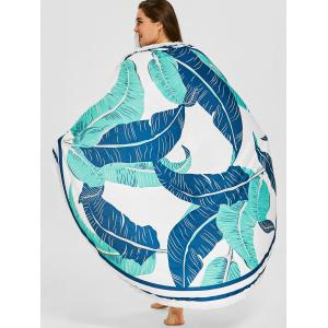 Palm Print Fringed Beach Throw -
