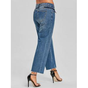 Tie Up Grommet Wide Leg Jeans -