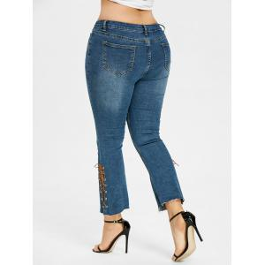 Плюс Размер Bootcut Side Lace Up Jeans -