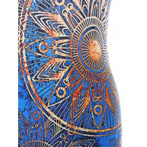 Cut Out Ethnic Print Mini Bodycon Dress -