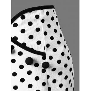 Polka Dot Midi Fishtail Skirt -