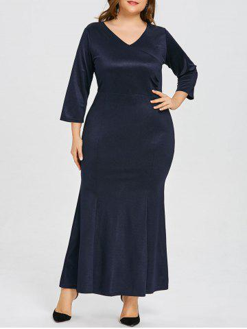 Trendy Plus Size V Neck Mermaid Party Dress