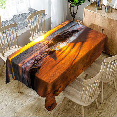 New Seascape Pattern Fabric Waterproof Table Cloth