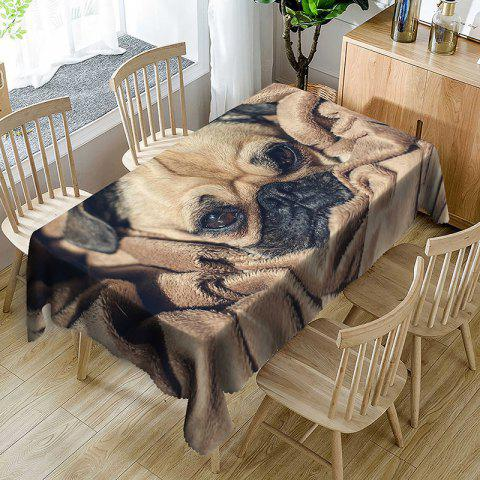 Chic Dog Pattern Waterproof Table Cloth